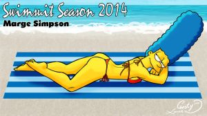Swimsuit Season 2014: Marge Simpson by Chesty-Larue