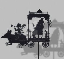 Fairy Coach - Shadow Puppet by PaperTales