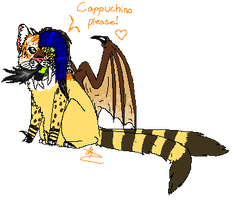 Gecko: A Chibi Mutated Saber Tooth Tiger by A-ViperFeline