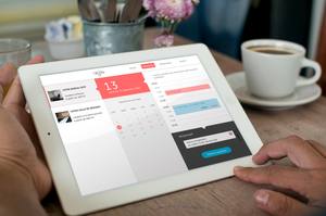 Office Booking Interface for Computer and iPad. by KevinPiacentini