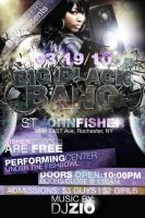 Big Black Bang Party Flyer by V1sualPoetry