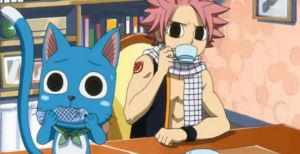 Fairy Tail Natsu and Happy (Fish and Tea!) by Puffypaw