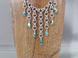 Byzantine Cascade Chainmail Necklace by Pharewings