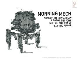 Morning Mech by Papierpilot