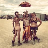 Golden nudes at burning man, 6 by TheMaleNudeStock