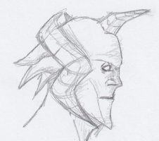 Picture a Day 335: Horn Creature Sketch by ConstantM0tion