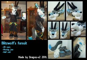 Fantasy dragon fursuit commission by dragon-x2