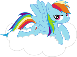 Rainbow Dash NAKED PNG not final by leopurofriki