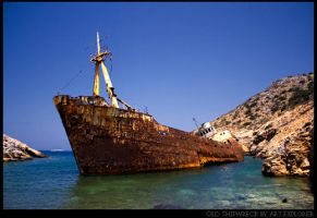 Old Shipwreck I by ouranokatevatos