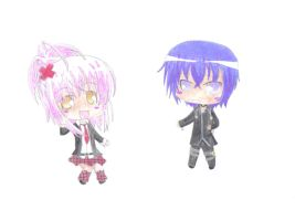 Amu And Ikuto Chibi's :3 by white-wolf27