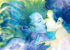 kiss of the sea by MyArt1992