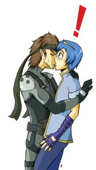 Snake x Marth by full-on-zombie