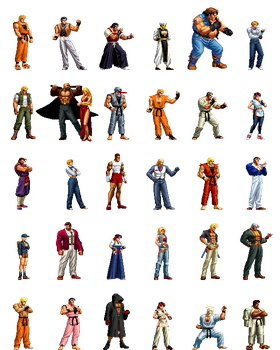 Art Of Fighting Collection by Street-Spriter