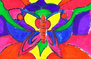 RA: Stained Glass Butterfly Wallpaper by Taiya001