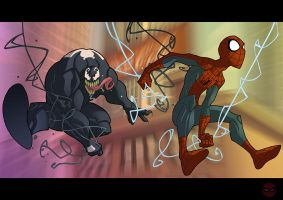 Spidey and Venom by Javas