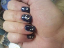 Nailartmidnightclear by CarpeComma