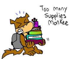 Too many Supplies Monkee by dawny