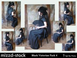Black Victorian Pack 4 by mizzd-stock