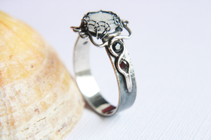 Handmade Moonstone Ring in Silver by SilverTwine