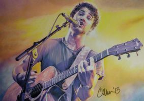 Darren Criss Live drawing (#2) by Live4ArtInLA