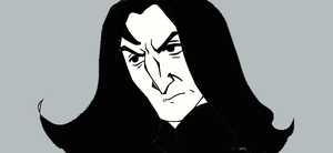 Severus Snape Black and White by Lucius007