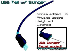 USB Tail with Stinger DL! by AnimeNebula003
