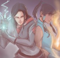 Asami and Korra Duo by HaizeHat