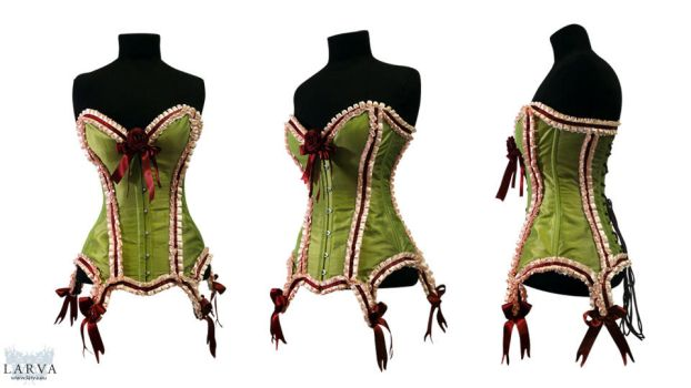 Green Cake Corset Front by Larva by Eisfluegel
