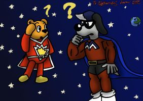GIFT ART - Superted and Mega Mutt by Dan-the-Countdowner