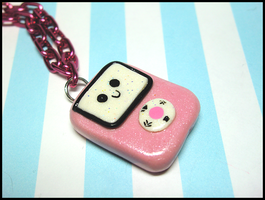 Pink iPod Necklace by GrandmaThunderpants