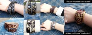 Double-Wrap and Cuff by leighanief