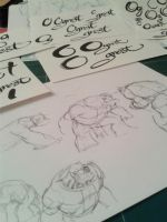 Character design and Logos doodle by migouze