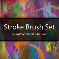 Stroke Brush Set by myPhotoshopBrushes