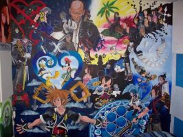Kingdom Hearts Wall Mural UPDATED by billywallwork525