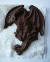 Flying Chocolate Dragon by Draelen