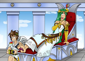 Pit and Palutena by Kenzoe64