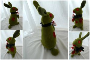 Zombie Bunny with BOW TIE by IckyDog