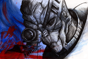 Garrus Vakarian - Second Thoughts by Pen-Sive