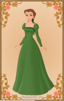 Belle green gown by monsterhighlover3