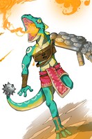 Lizalfos: Skyward Sword by PeteyXkid