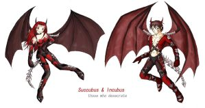 Succubus and Incubus by scelus