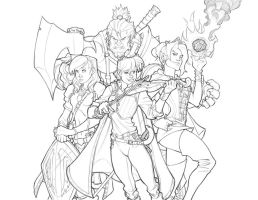 The Team - Lineart Complete by revoincubus