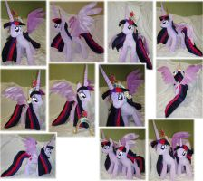Alicorn Twilight Sparkle plushie by Rens-twin