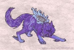 Night Herald Wolf by feed-me-a-stray-cat