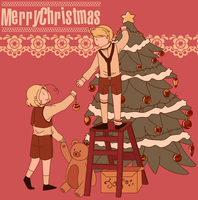 Hetalia | Merry Christmas 2013 by Lazorite