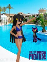 [L-F] Iammy  en la piscina by OCR-ED-209