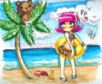 Annie goes to the Beach by Lemia