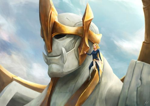 Young Lux and Galio - Flesh and Stone by cheesewoo
