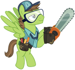 Vector 023: Horticultural Pony with Chainsaw by MPnoir