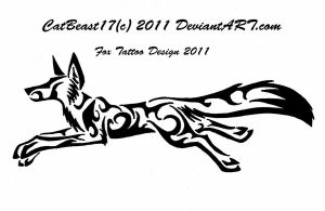 Running Fox Tattoo Design by CatBeast17